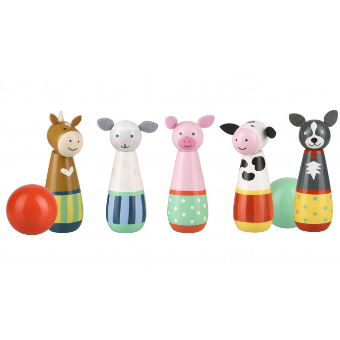 Боулинг с животните от фермата от Orange tree toys-bellamiestore