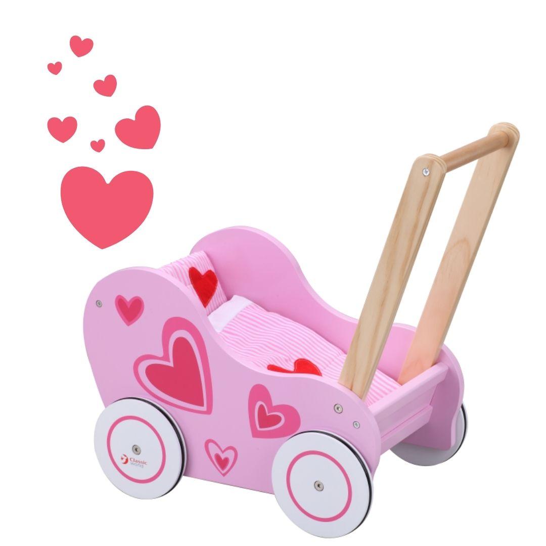 Classic world дървена количка със завивки-bellamiestore