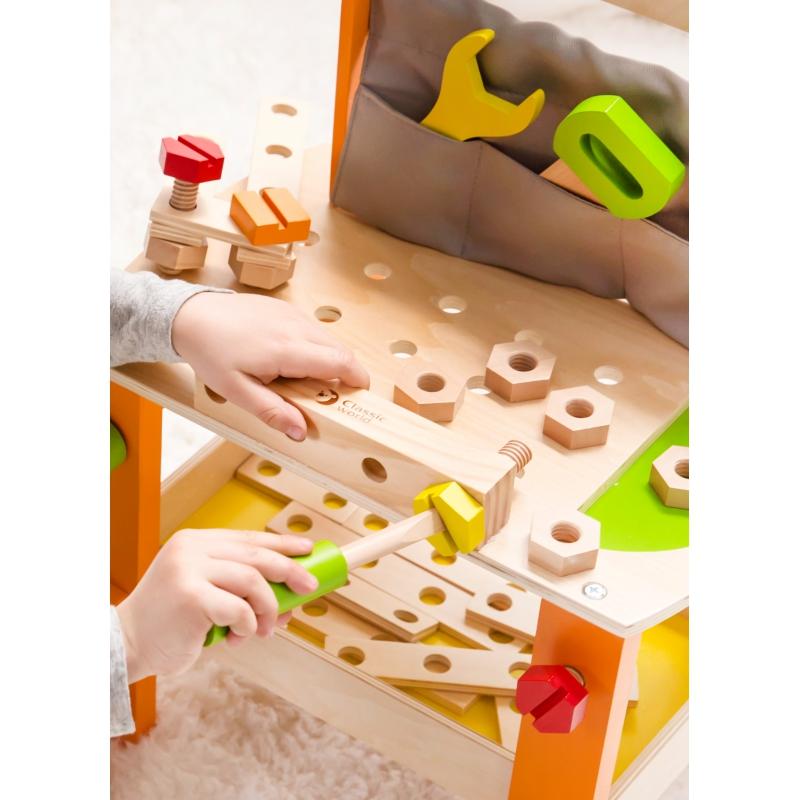 Classic world дървена работилница с инструменти-bellamiestore