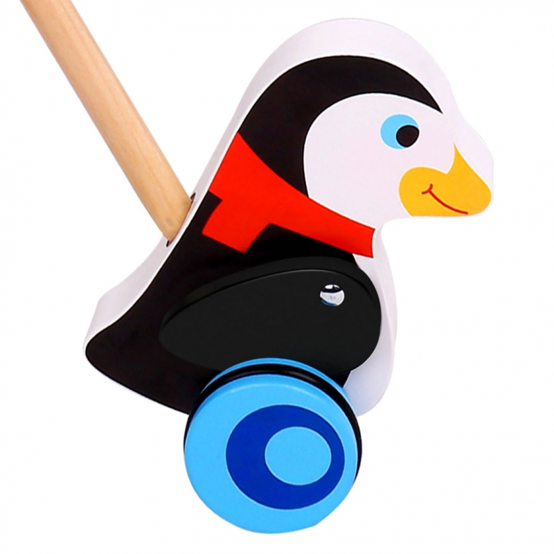 Дървена буталка пингвинче от Tooky toy-bellamiestore