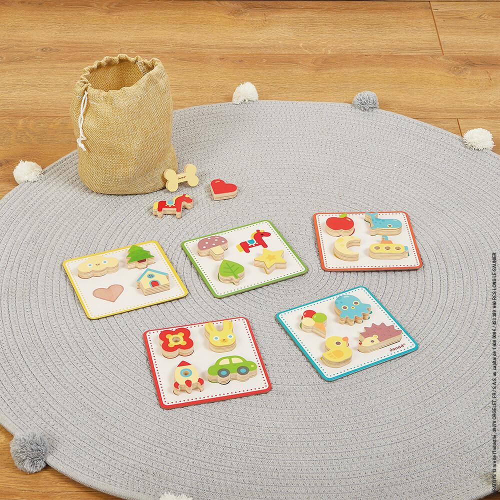 Дървена игра за памет с напиване от Janod-bellamiestore