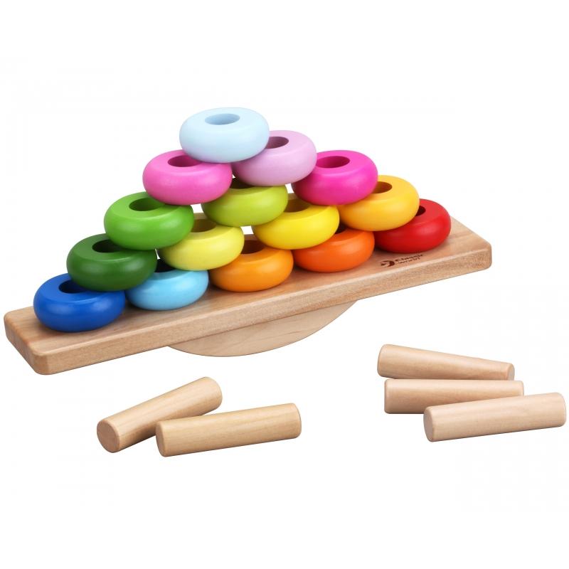 Дървена играчка за баланс с рингове от Classic world-bellamiestore