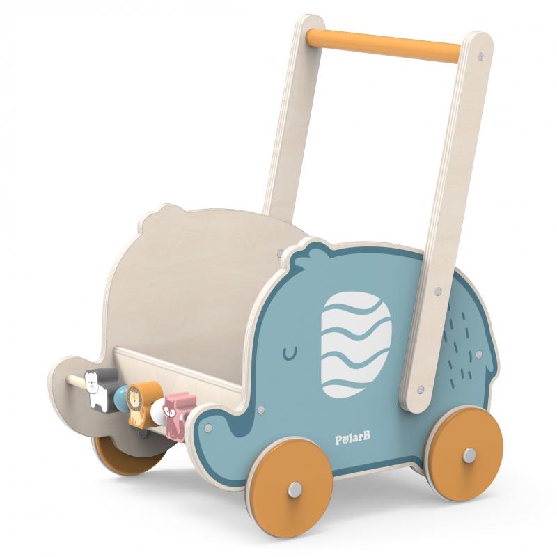 Дървена количка и проходилка Слонче Polar B от Viga toys-bellamiestore