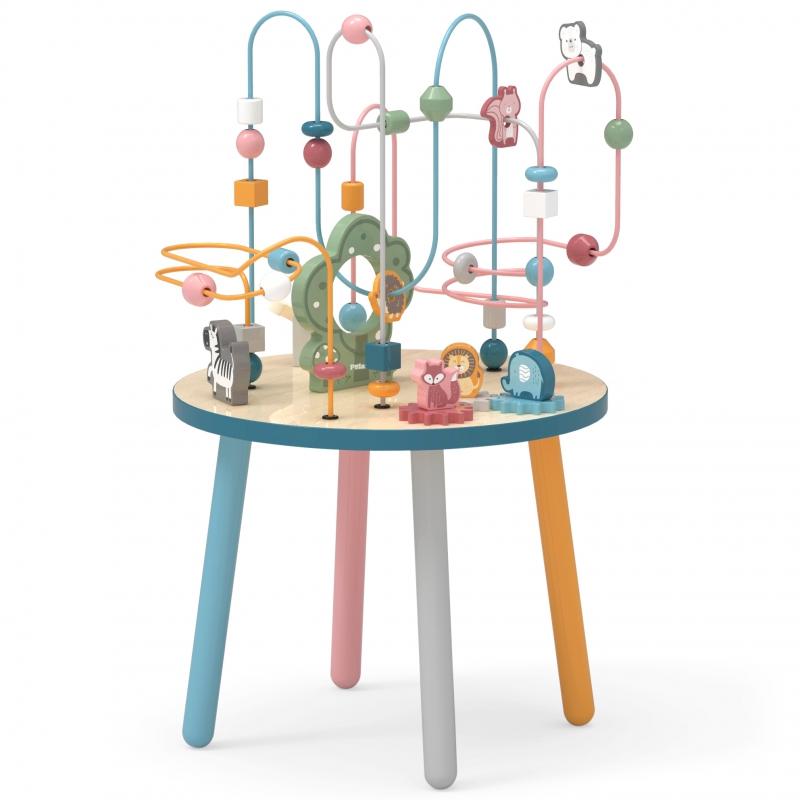 Дървена маса за игра с активности Polar B-bellamiestore