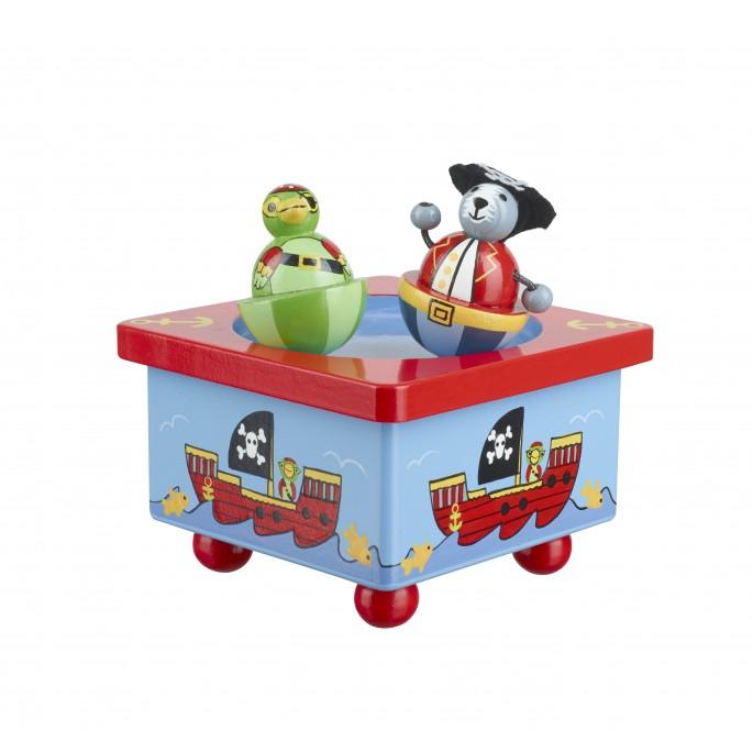 Дървена музикална въртележка Пирати от Orange tree toys-bellamiestore