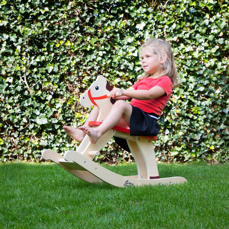 Дървено конче люлка от New classic toys-bellamiestore