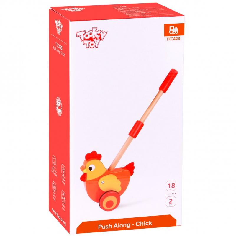 Детска дървена буталка Кокошка от Tooky toy-bellamiestore