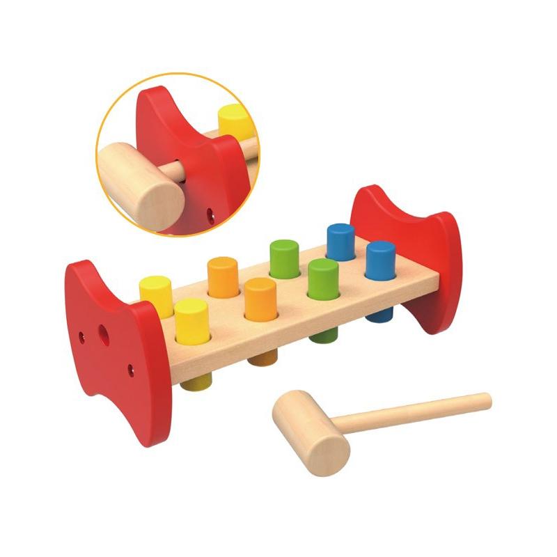 Детска дървена играчка с чукче Tooky toy-bellamiestore