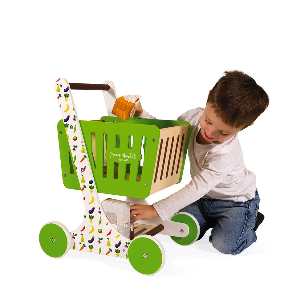 Детска дървена количка за пазар от Janod-bellamiestore