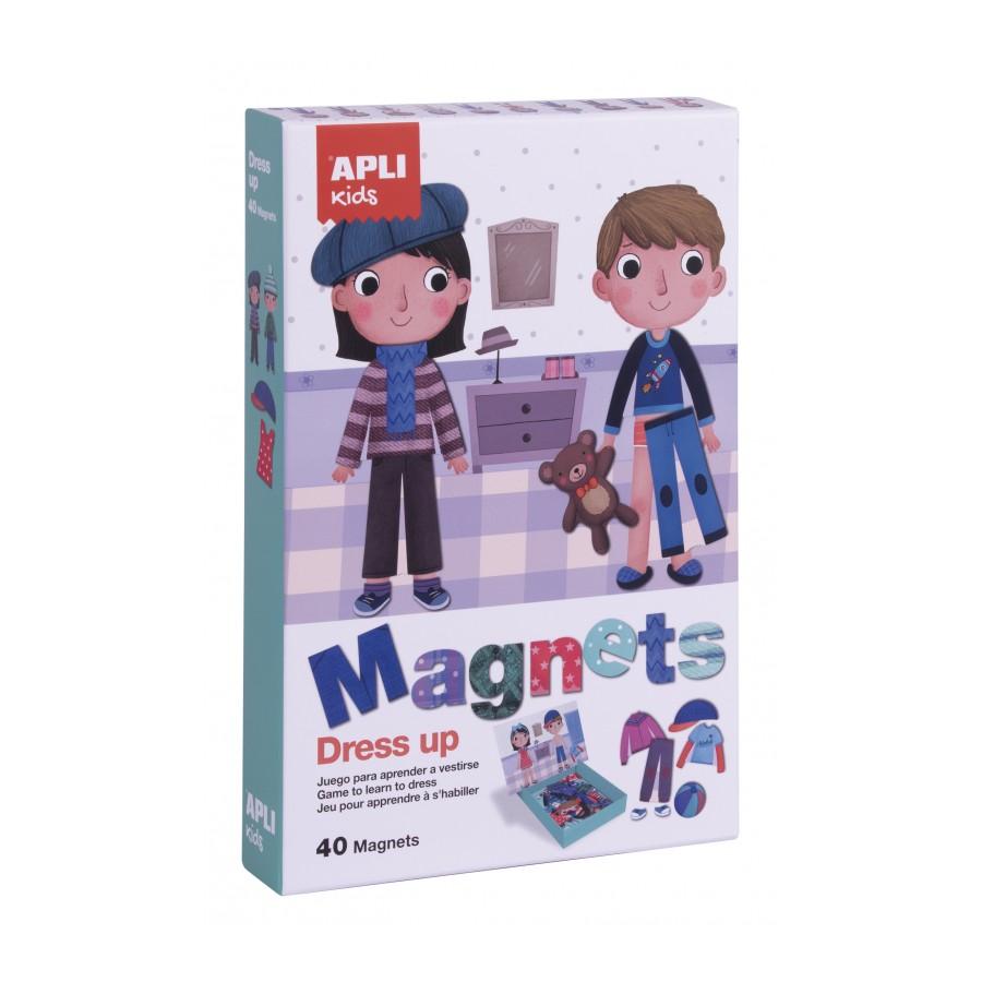 Детска игра с магнити - Облечи ни от Apli kids-bellamiestore