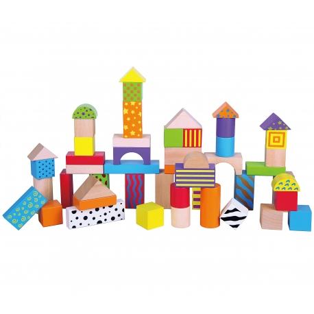 Детски дървен конструктор от 50 части Viga toys-bellamiestore