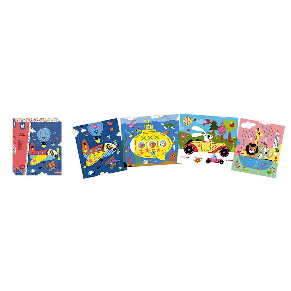 Детски комплект за шиене Приключения от Janod-bellamiestore