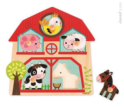 Детски музикален пъзел Фермата от Janod-bellamiestore