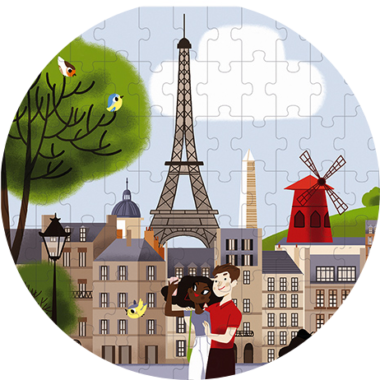 Детски пъзел от 200 части Париж от Janod-bellamiestore