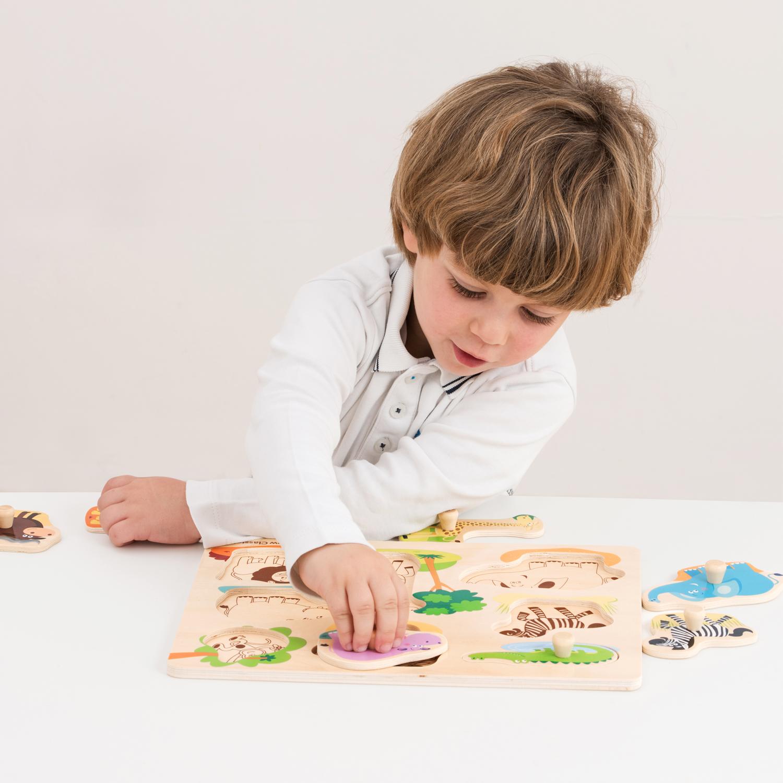 Детски пъзел с дръжки - Живота в Джунглата-bellamiestore