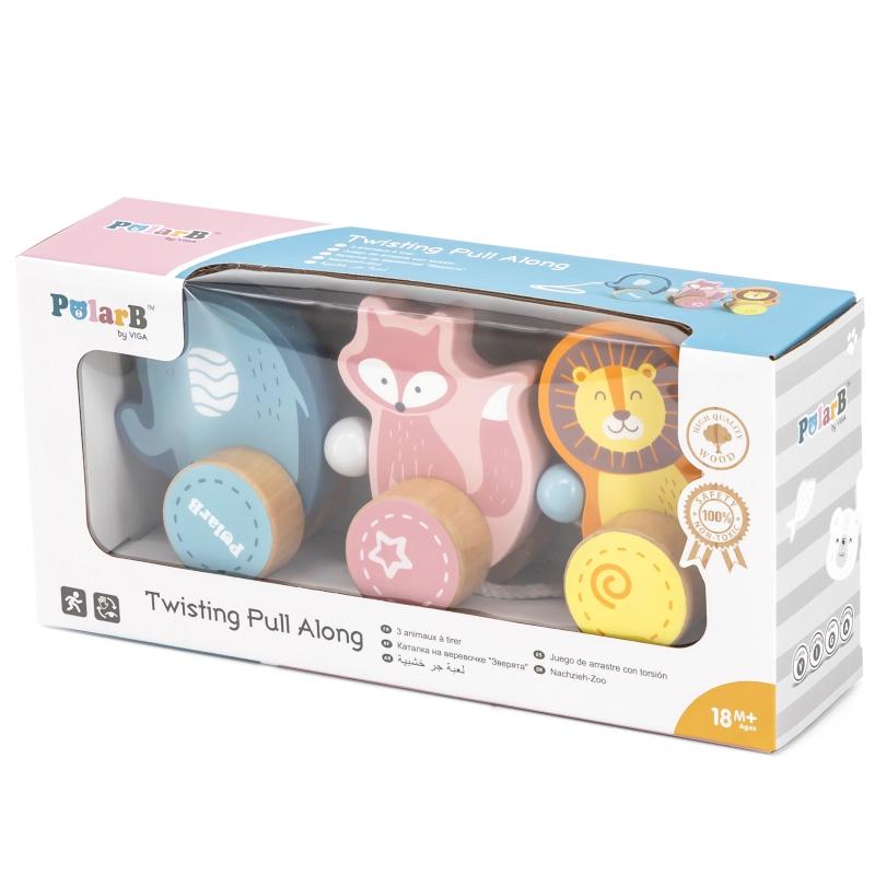 Дървена играчка за дърпане Polar B от Viga toys-bellamiestore