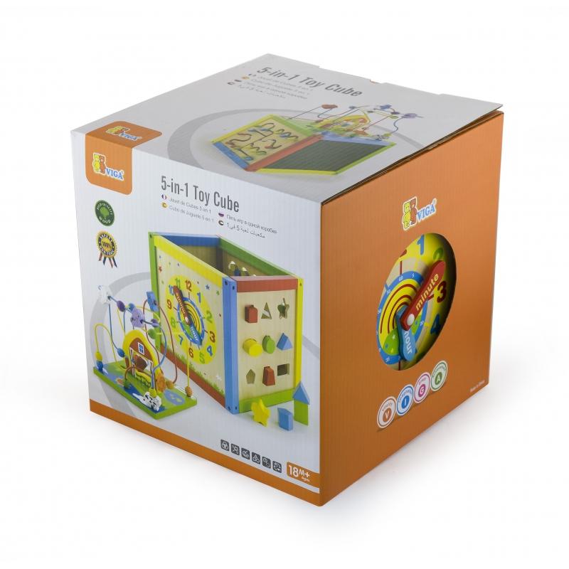 Голям дървен куб с активности от Viga toys-bellamiestore