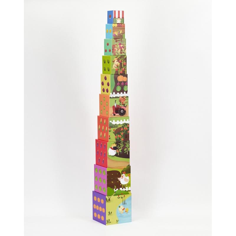 Картонени кубчета Зеленчуци 10 броя от Classic world- bellamiestore