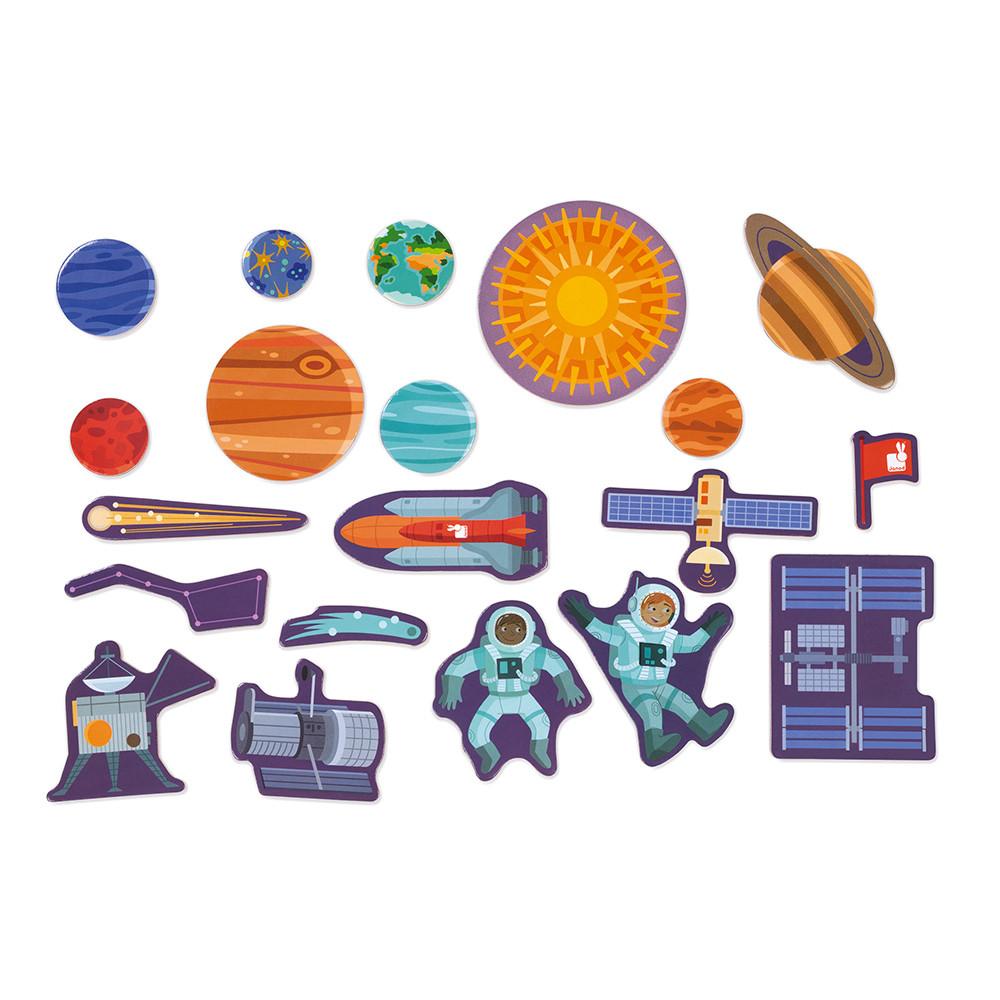 Магнитна дъска Слънчевата система от Janod-bellamiestore
