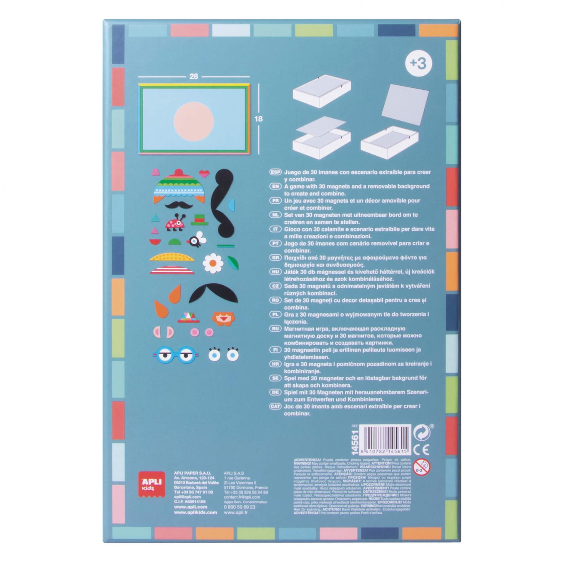 Магнитна игра за деца- Смешни лица от Apli kids-bellamiestore