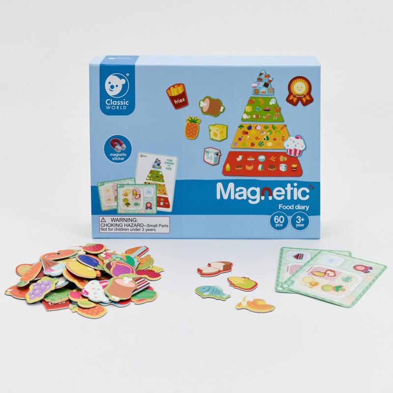 Магнитна образователна игра - Хранителни продукти от Classic World-bellamiestore