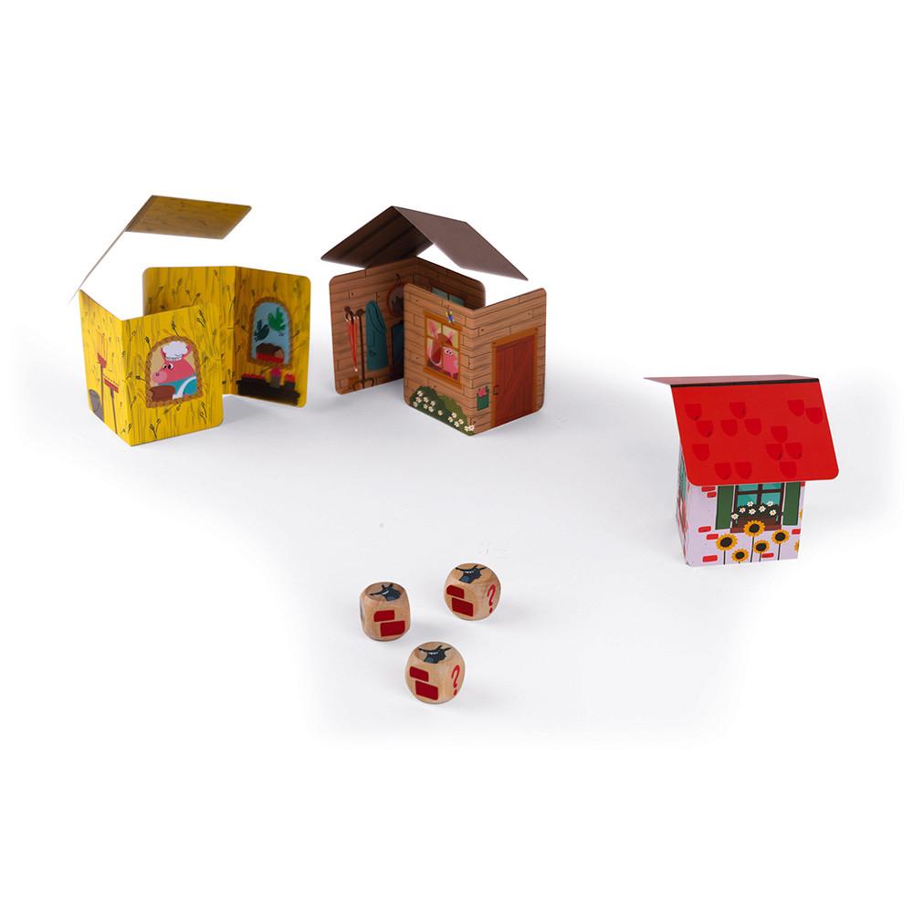 Настолна игра с карти Трите прасенца от Janod-bellamiestore