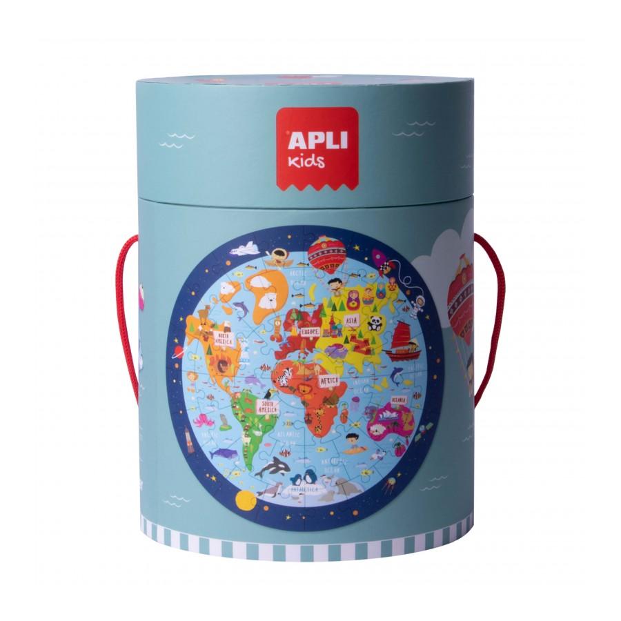 Образователен пъзел за деца Планетата Земя от Apli kids-bellamiestore