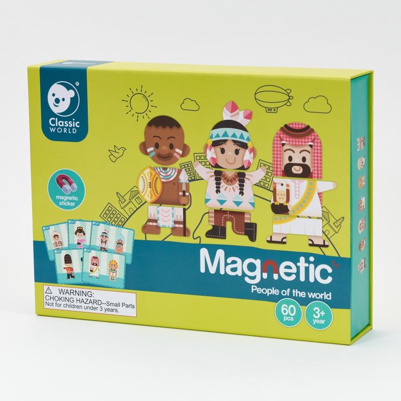 Образователна игра с магнити - Хората по света-bellamiestore