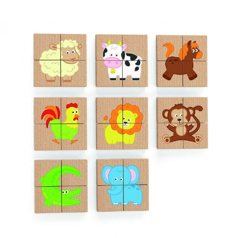 Пъзел за дъска с магнити - Животни от Viga toys-bellamiestore