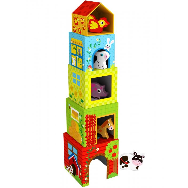 Пирамида от кубчета с фигурки за игра Фермата-bellamiestore