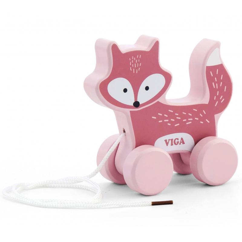 Polar B играчка за дърпане лисица от Viga toys