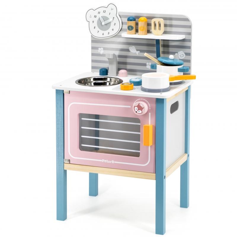 Polar B детска дървена кухня с аксесоари-bellamiestore