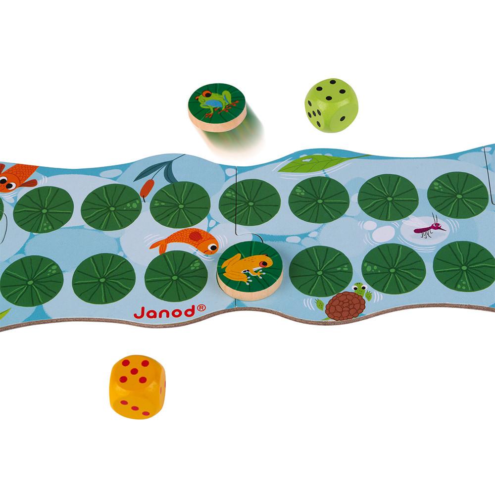 Състезателна игра за деца - Бързи жаби от Janod-bellamiestore