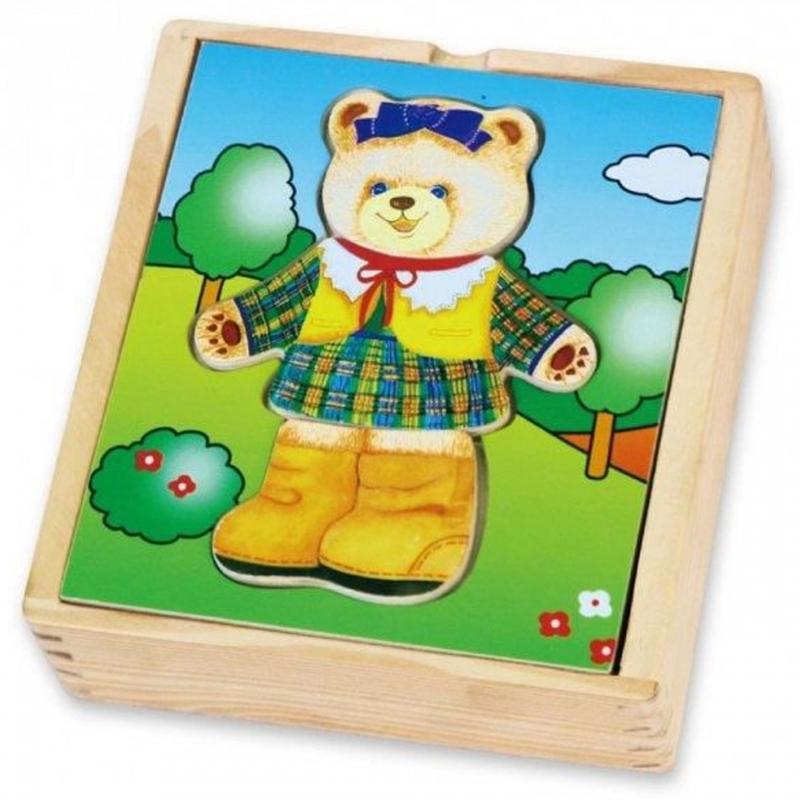 Viga toys дървена играчка и пъзел- Облечи Меца-bellamiestore