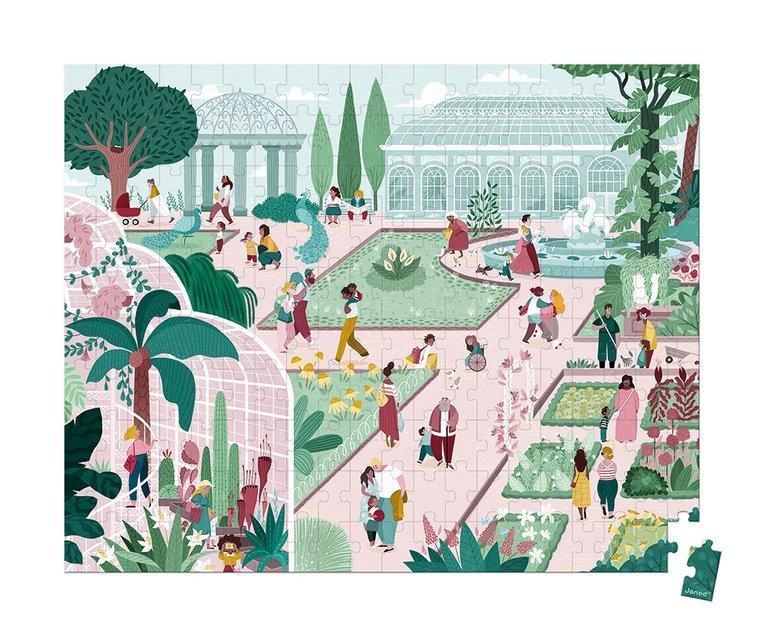 Ботаническа градина - детски пъзел от Janod-bellamiestore