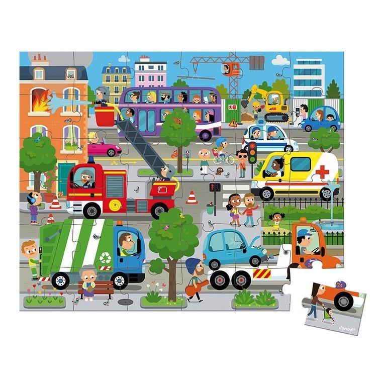 Janod Детски пъзел Град от 36 части-bellamiestore