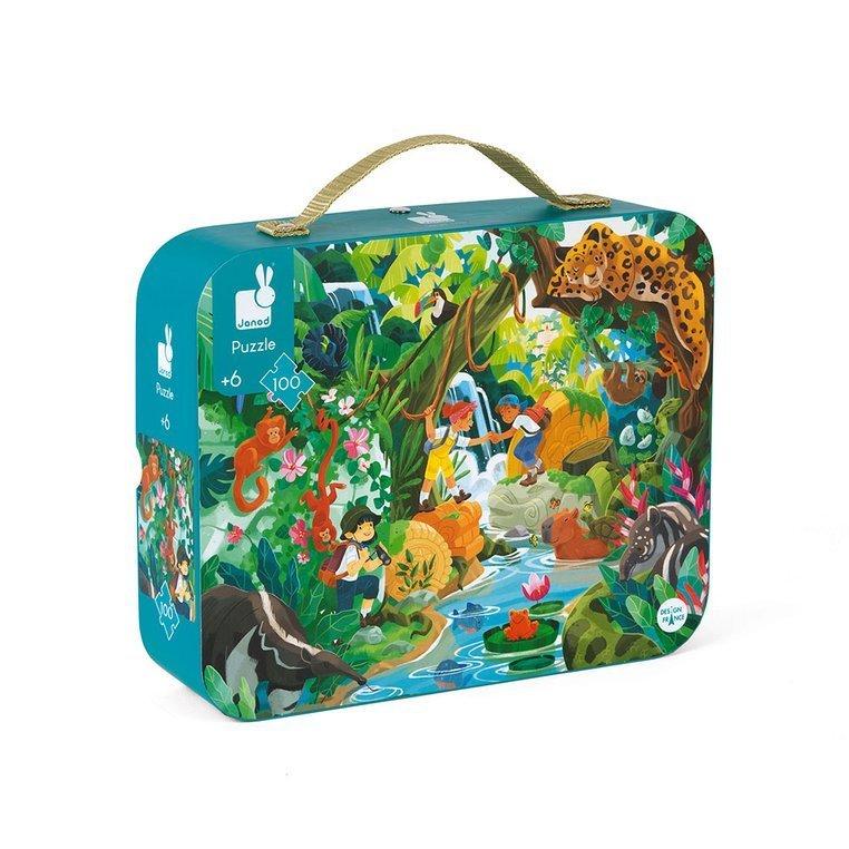 Janod Приключения в джунглата пъзел за деца-bellamiestore