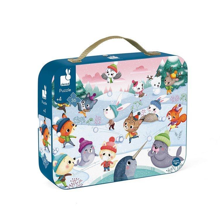 Пъзел в куфарче Снежно парти-bellamiestore