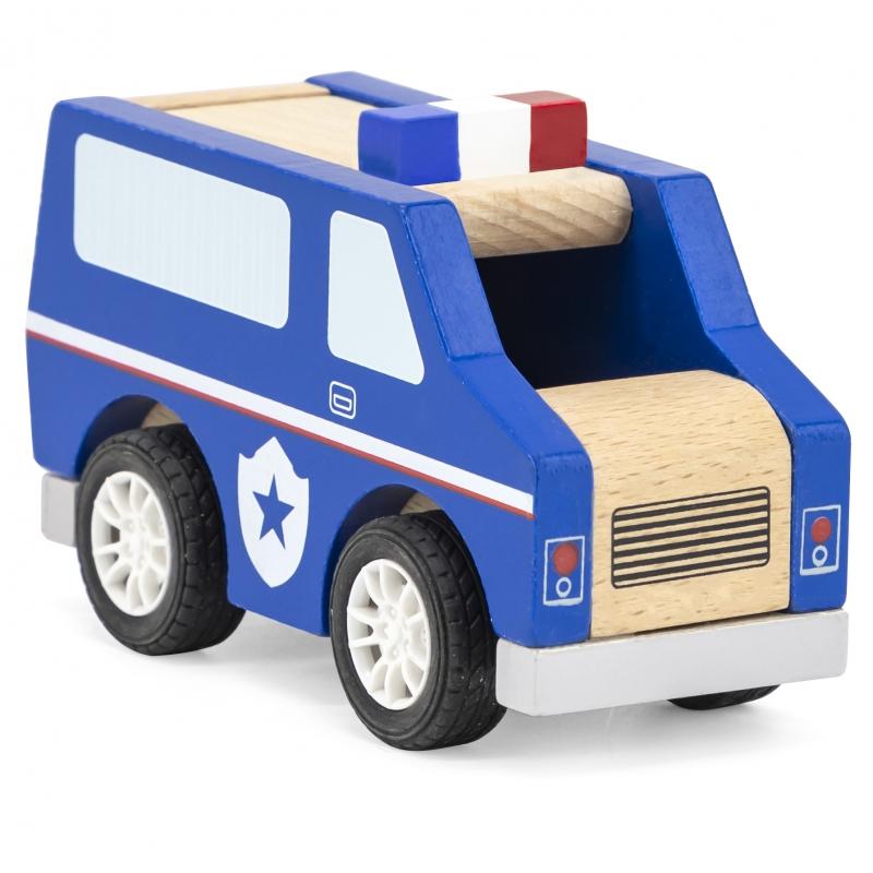 Дървена играчка полицейска кола от Viga toys-bellamiestore