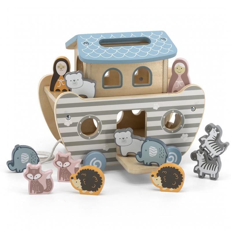 Дървена играчка за сортиране на колела Ной-bellamiestore