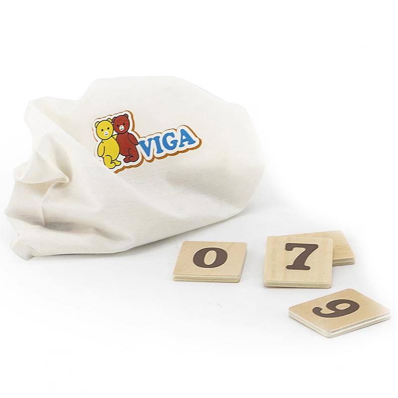 Дървена образователна играчка Часовник от Viga toys