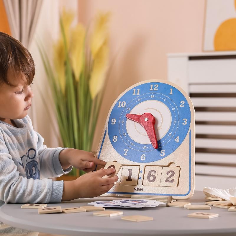 Дървена образователна играчка Часовник от Viga toys-bellamiestore