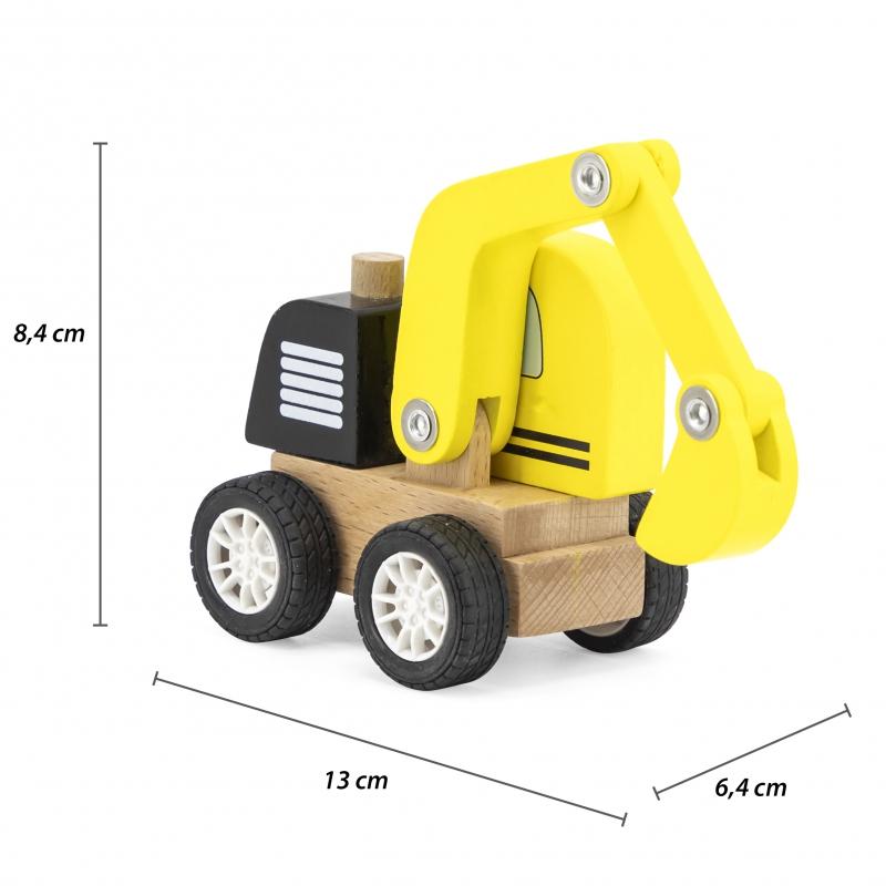 Детска дървена играчка Багер от Viga toys-bellamiestore
