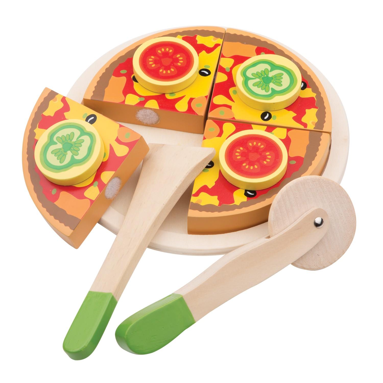 Детска дървена пица за рязане от New classic toys-bellamiestore
