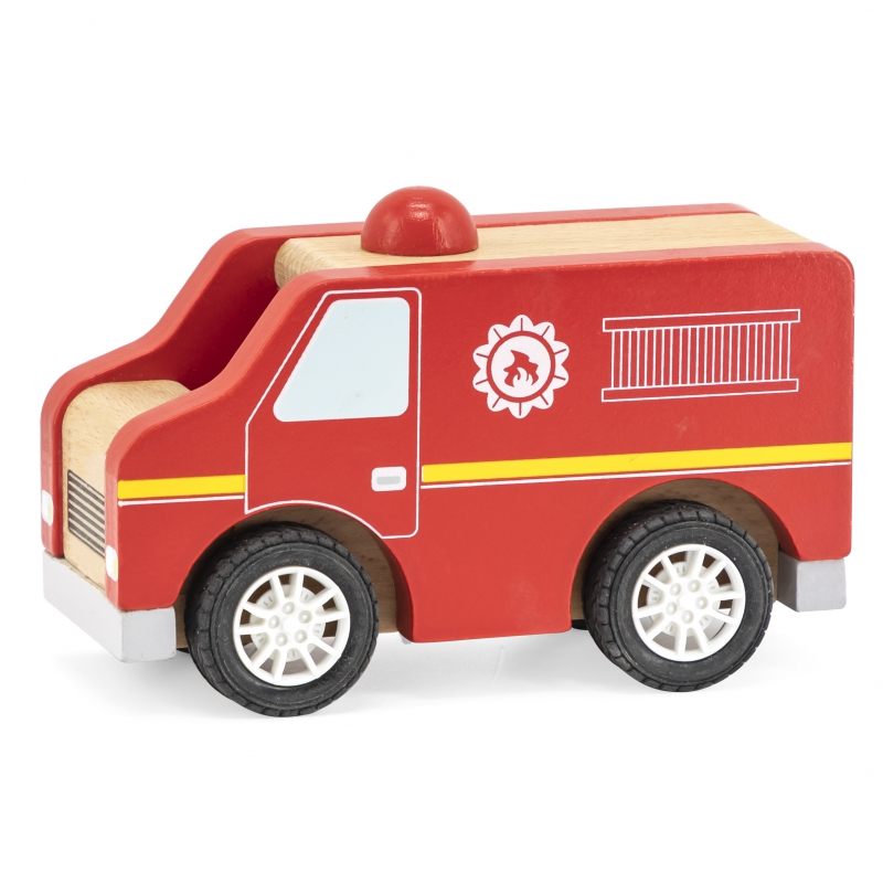 Детска дървена пожарна от Viga toys-bellamiestore