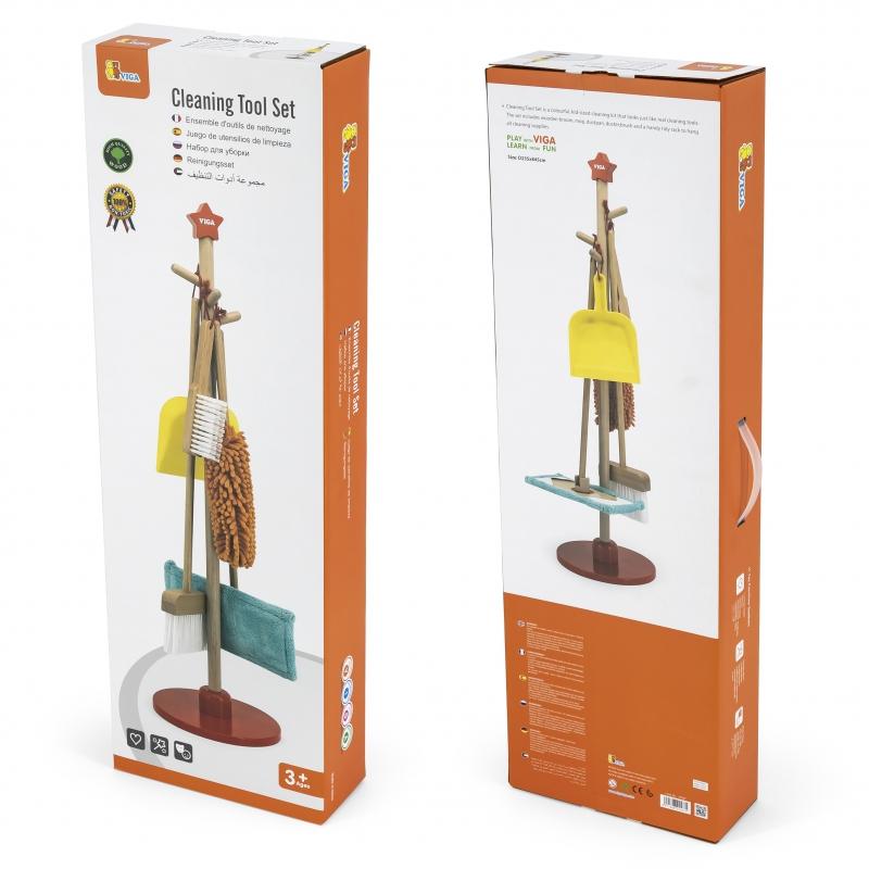 Детски дървен комплект за почистване от Viga toys-bellamiestore