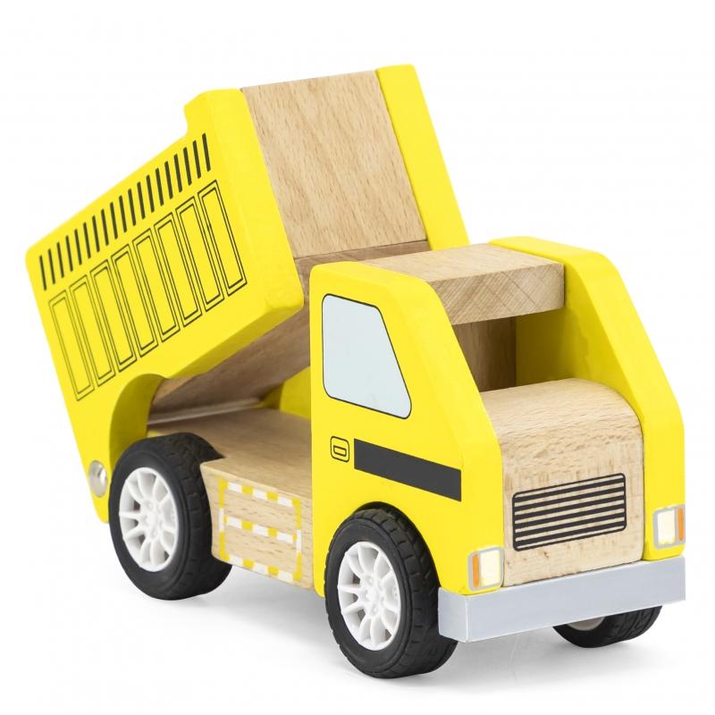 Детски дървен жълт самосвал от Viga toys-bellamiestore