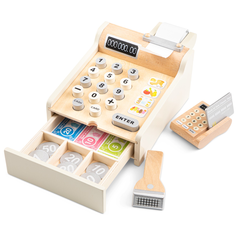 Детски касов апарат от дърво - New classic toys-bellamiestore