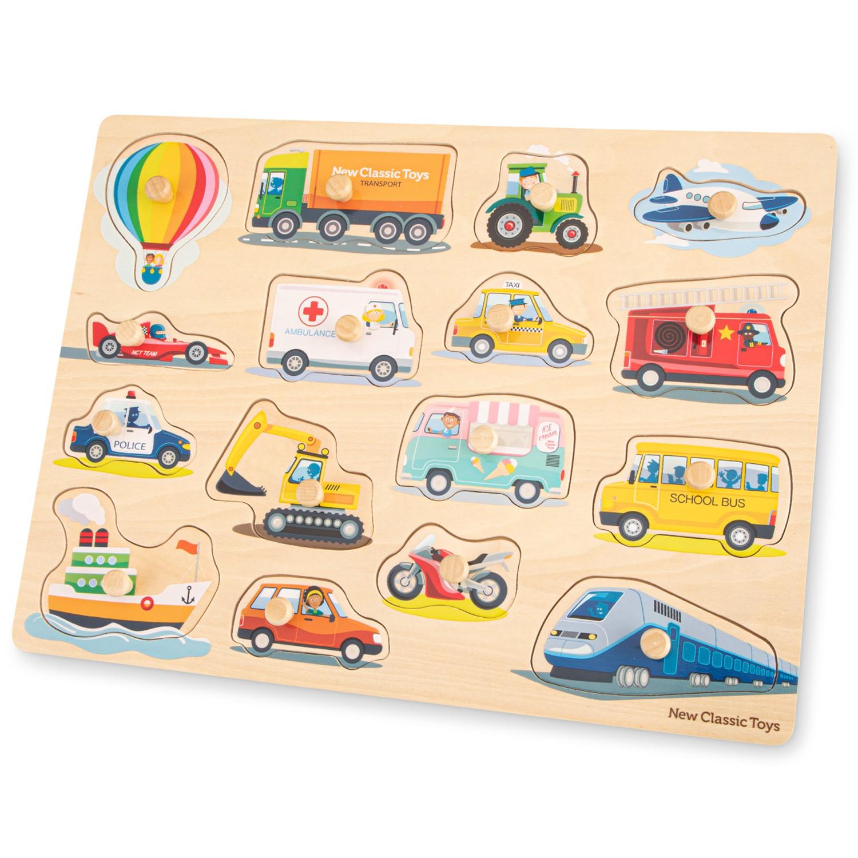 Детски пъзел с дръжки Транспортни средства-bellamiestore