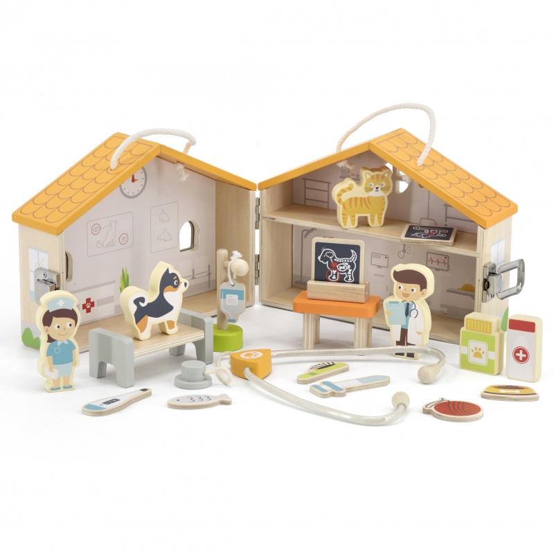 Комплект за игра – Клиника за животни от Viga toys-bellamiestore